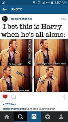 This is definitely Harry when he is alone and I'm definitely like this One Direction Humor, One Direction Harry, One Direction Pictures, Harry Styles Memes, Harry Styles Imagines, Harry 1d, 1d And 5sos, Harry Edward Styles, Larry Stylinson