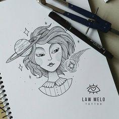 Arte linda feita pela tatuadora Law Melo de Curitiba. #tattoo #tatuagem #desenho #drawing #arte #art