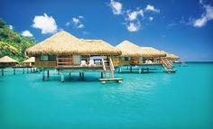~Fiji~ This is the type of over-water hut I want to stay in.