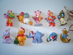 Disney Winnie The Pooh Christmas Xmas Figurines Set Zaini - Figures Collectibles Winnie The Pooh Christmas, Disney Winnie The Pooh, Disney Christmas Ornaments, Disney Cartoons, Xmas Decorations, Toys, Handmade Gifts, Pendants, Characters