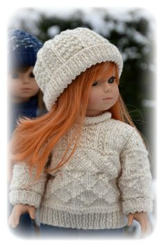 Archipelago, a textured stitch sweater and hat knitting pattern for American Girl Dolls. $3.50, via Etsy.