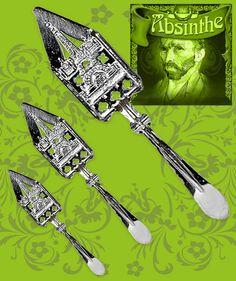 Försilvrad absintsked, kopia av en populär antik modell