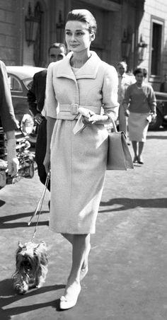 hepburndeneuvekelly:Audrey Hepburn & Mr. Famous in 1960, Rome.