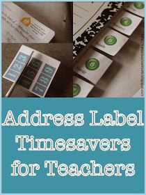All Things Upper Elementary: Address Label Timesavers for Teachers: Guest Post from Kate's Classroom Cafe