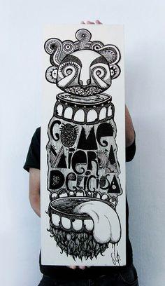 Rodrigo Estay es una trabajador común de 9 a 7, pero de noche o en su tiempo libre es ESTOY. Pintor que usa muros, telas, madera y el computador como soporte para esos monos que desde chico dibuja.
