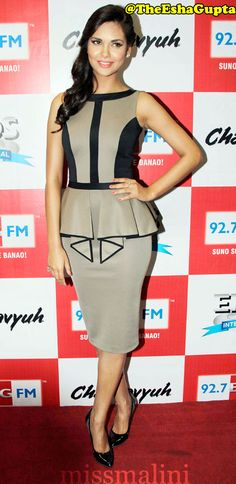 Esha Gupta Bollywood in Peplum