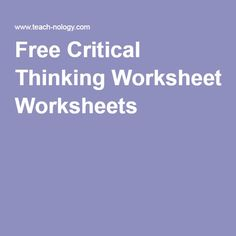 Free Critical Thinking Worksheets Handy worksheets for suffixes and other topics 5/6