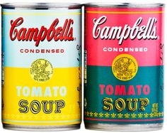 Campbells 50th anniversary Andy Warhol Tomato soup cans!!