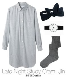 """""""Late Night Exam Cram: Jin"""" by btsoutfits ❤ liked on Polyvore featuring Steven Alan, ASOS and Rosendahl"""