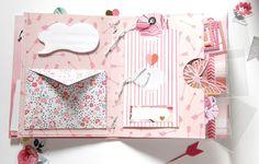 Scrapbook Journal, Mini Scrapbook Albums, Scrapbook Paper Crafts, Mini Albums, Pen Pal Letters, Pocket Letters, Snail Mail Flipbook, Envelope Book, Snail Mail Pen Pals