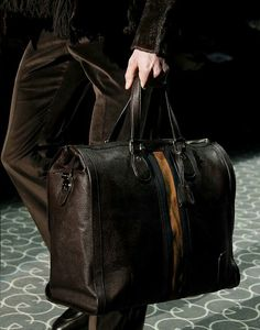7ce04afb327 Luggage Accessories, Gucci Men, Fashion Bags, Fashion Models, Male Fashion,  Leather