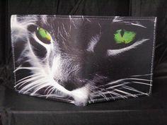 Leder Portemonnaie Katze Cat Mietzi Mieze   von LimitedLeatherWallet auf DaWanda.com