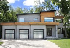 Un look parfait pour vos multiples entrée de porte de garage / Perfect garage door for your multiple garages !