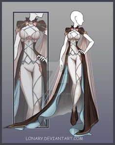 [Close] Design by Lonary on DeviantArt - Kleidung Ideen 2019 Hero Costumes, Character Costumes, Character Outfits, Teacher Costumes, Clothing Sketches, Dress Sketches, Dress Drawing, Drawing Clothes, Fashion Design Drawings