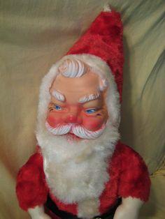 Vintage Santa Claus Rubber Face Mittens Boots