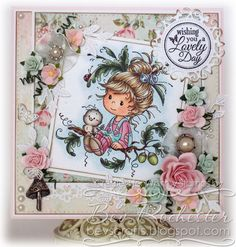 Oak Tree Girl [SZWS168] - $8.00 : Whimsy Stamps