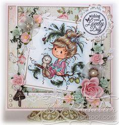 Oak Tree Girl [SZWS168] - $8.00 : Whimsy Stamps