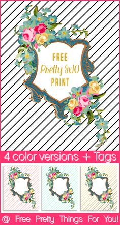 Art: Free Floral 8x10 Print - Free Pretty Things For You