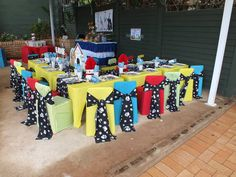 Puppy themed party set-up
