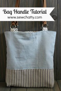 Sew Chatty: {Tutorial} Adding commercial handles to handmade bags . - Sewing Chatty: {Tutorial} Adding commercial handles to handmade bags – Bags and Purses DIY – Se - Sacs Tote Bags, Clutch Bags, Popular Handbags, Diy Purse, Fabric Bags, Sew Bags, Bags Sewing, Denim Bag, Sewing Projects For Beginners