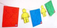 Guirlande Anniversaire LEGO Lego Birthday, Birthday Parties, Legos, Homemade Birthday, Decoration, Diy And Crafts, Birthdays, Children, Fun