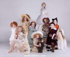 Hildegard Gunzel Collectible Dolls.wax over Porcelain