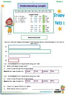 Workbooks - Grade 3 - Numeracy : Grade 3 Numeracy: Length workbook Numeracy, Grade 3, Worksheets, Study, Map, Studio, Location Map, Investigations, Literacy Centers