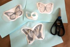 Cut the plastic from milk jugs, use sharpies, punch a hole and hang these butterflies!