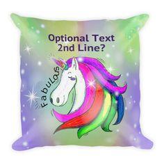 Personalized Unicorn Pillow, Unicorn Cushion, Unicorn Gift, Unicorn Lover Gift, Girls Unicorn, Fabulous Unicorn Premium Pillow + Insert by UnicornGiftsFor on Etsy Unicorn Cushion, Unicorn Pillow, Unicorn Gifts, Cushions, Pillows, Gift For Lover, Unicorns, Pillow Inserts, Cuddling