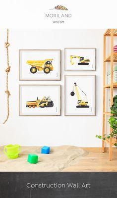 Asphalt Paving Machine Print Construction Room Decor Birthday Toddler Wall Boy Printable