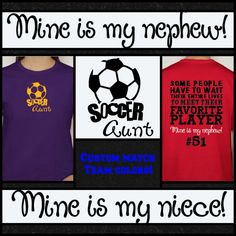 d6cdedbe8a6 Soccer Aunt T-shirt Proud Soccer Aunt Favorite Player Shirt Sports Gear Fan  Cheer with