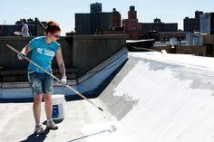 Curiosidades - Pintar las Azoteas de Blanco Reduce los Efectos del Calentamiento Global.
