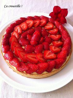 Ça croustille !: TARTE AUX FRAISES pâte amande, creme patissiere vanille !