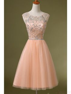 Beading Tulle Layered Homecoming Cocktail Dresses Sweet 16 Dresses #homecomingdresses #SIMIBridal