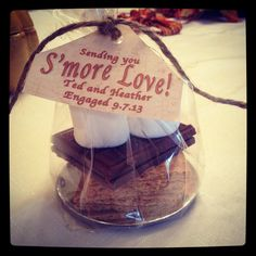 Fall Engagement Party #fall #smores #love #wedding #engagement #party