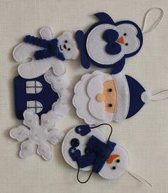 Felt Christmas Decorations, Felt Christmas Ornaments, Christmas Sewing, Homemade Christmas Gifts, Christmas Crafts For Kids, Christmas Art, Xmas, Felt Toys, Felt Crafts