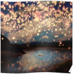 Love Wish Lanterns Wall Tapestry by Paula Belle Flores from Saved to Wall art prints, Wall Tapestries. Love Canvas, Canvas Prints, Art Prints, Arte Disney, Disney Art, Disney Icons, Wish Lanterns, Sky Lanterns, Floating Lanterns