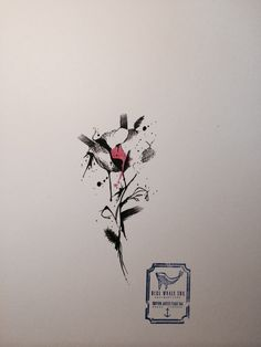 682694cd0 Inked Line Flower Tattoo Design From Blue Whale Ink Design by _park_tae_  Work In Korea,
