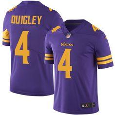 Men's Nike Minnesota Vikings #4 Ryan Quigley Elite Purple Rush NFL Jersey