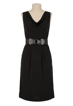Belted Cowl Neck Dress available at #Maurices