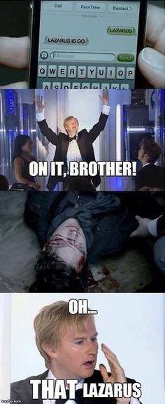 Wrong Lazarus, Mycroft. #wholock