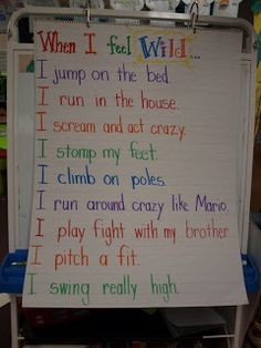 Wild Thing You Make My Heart Sing!  This is the writing chart we did before we made our Max's.    This chart makes a great shared reading piece for the rest of the week.