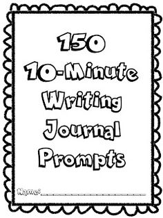 I would use these writing prompts to have students