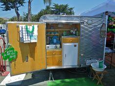 Like the outdoor Side Kitchen Vintage Camper