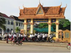 Narong Hul's High School in Battambang Cambodia