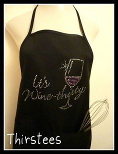 For the Hostess - Wine Apron. Book Club. Wine Party. Hostess by ReneesRhinestones1, $22.99