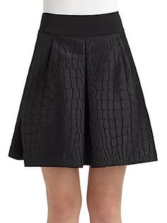 Philosophy di Alberta Ferretti Jacquard Crocodile Design Skirt