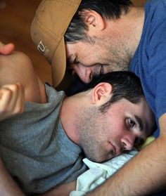 A picture of Ryan and Ken Diviney that appeared on the front page of the Washington Post.  Photo by Carol Guzy