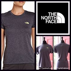 """North Face Logo Tee  NEW WITH TAGS   RETAIL PRICE: $25   THE NORTH FACE Logo Tee   * Super soft & comfy fabric.   * It measures about 24"""" long.   * Crew neck & short sleeves.   * Graphic logo print on front chest.   * Contrasting color graphic.   Fabric: 100% Polyester  Color: Grey w/ Yellow Graphic Item:   No Trades ✅ Offers Considered*✅  *Please use the blue 'offer' button to submit an offer. North Face Tops Tees - Short Sleeve"""