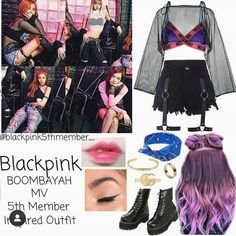 Credits to:(Go Visit) Blackpink Fashion, Kpop Fashion Outfits, Stage Outfits, Korean Outfits, Dance Outfits, Korean Fashion, Colourful Outfits, Retro Outfits, Cute Outfits